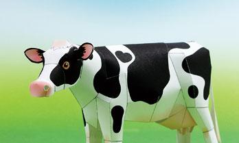 「牛」のノベルティーペーパークラフト