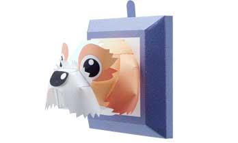 スマイルドッグリトル・シーズー、犬のペーパークラフト