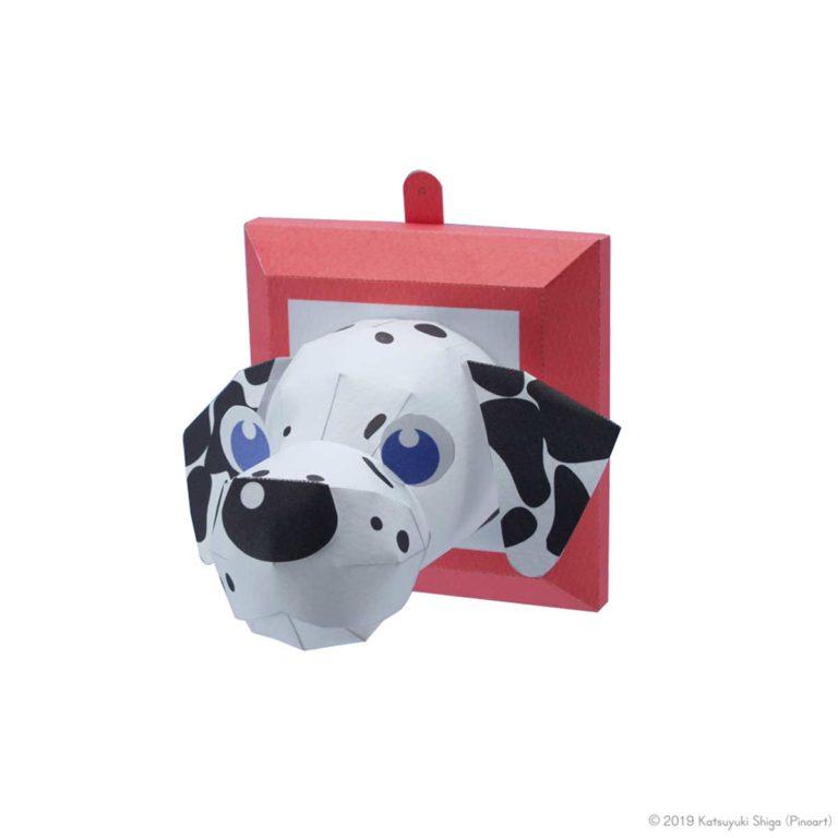 スマイルドッグリトル・ダルメシアン、犬のペーパークラフト