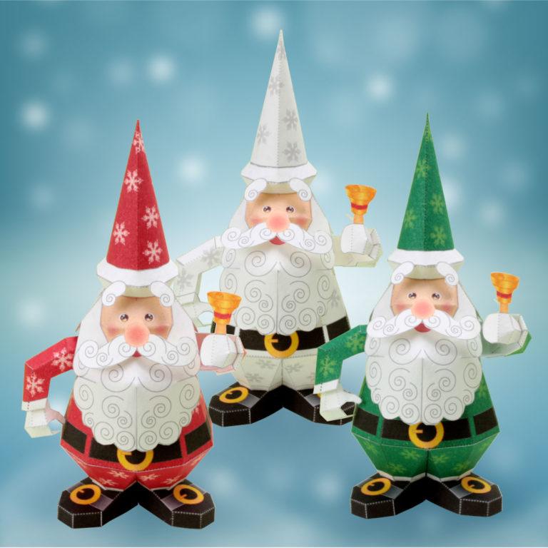 「クリスマスのノベルティーグッズ」サンタクロースのペーパークラフト。楽しいペーパークラフトを作りましょう。